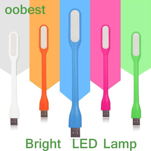 Oobest Silica Gel Multicolor Mini Book Light Reading Lamp Usb Led Light Computer Lamp For Notebook-LED Lamps-Warm White Life Store-White-EpicWorldStore.com