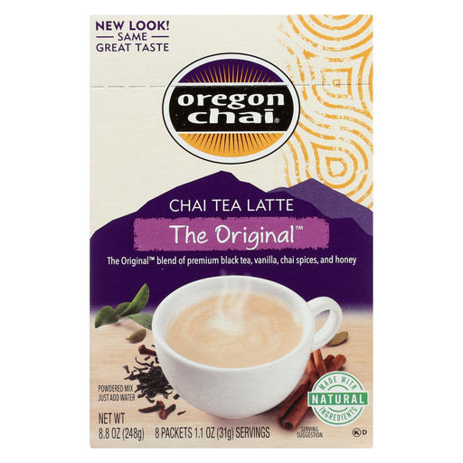 Oregon Chai Tea Latte Mix - The Original - Case Of 6 - 8 Count-Eco-Friendly Home & Grocery-Oregon Chai-EpicWorldStore.com