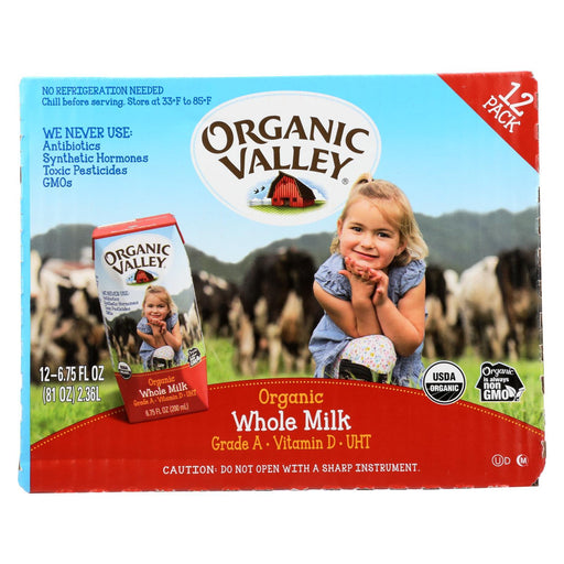 Organic Valley Single Serve Aseptic Milk - Whole - Case Of 12 - 6.75Oz Cartons-Eco-Friendly Home & Grocery-Organic Valley-EpicWorldStore.com