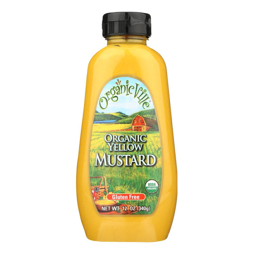 Organic Ville Organic Yellow - Mustard - Case Of 12 - 12 Oz.-Eco-Friendly Home & Grocery-Organicville-EpicWorldStore.com
