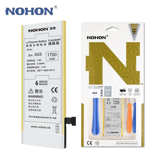 Original Nohon Mobile Phone Battery For Apple Iphone 5S 5Gs 5C Li-Ion Batteria 1700Mah Free Repair-Mobile Phone Parts-Nohon OfficialFlagship Store-EpicWorldStore.com