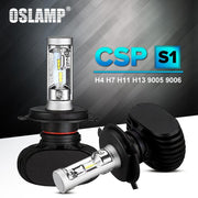 Oslamp Auto Led H7 Headlight H13 9005 Hb3 9006 Hb4 Led H4 Car Bulb 6500K Csp Chip 50W 8000Lm-Car Lights-Oslamp TM store-H9-EpicWorldStore.com