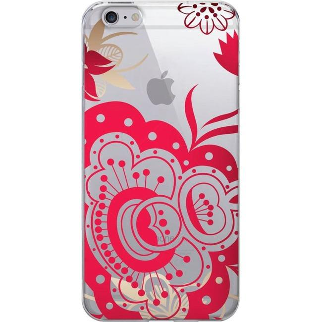 Otm Floral Prints Clear Phone Case, Paisley Red - Iphone 6-6S-Computers & Electronics-Centon Electronics-EpicWorldStore.com