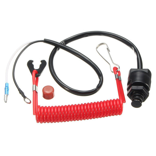 Outboard Stop Kill Switch Cut Off Switches Boat Motor Kill Stop Switch & Safety Tether Lanyard For-ATV,RV,Boat & Other Vehicle-Make-up Car Store-EpicWorldStore.com