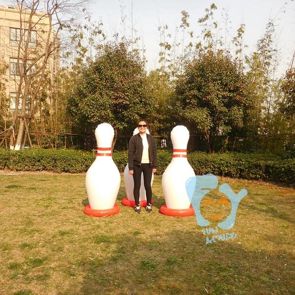 Outdoor Sports Game 60Inch 1.5M Giant Inflatable Bowling Pin With Ring Game Large Inflatable Pins-Bowling-Fun Amuse Development CO.,Limited-inflatable pin-EpicWorldStore.com