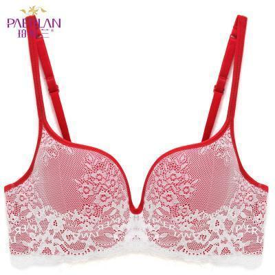 Paerlan Seamless Wire Free Lace Bra Small Breasts Push Up One - Piece Stylish Back Closure Tow-Bras-PAERLAN Official Store-red-70A-EpicWorldStore.com