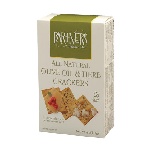 Partners Snack Crackers - Olive Oil And Herb - Case Of 6 - 4 Oz.-Eco-Friendly Home & Grocery-Partners A Tastefull Cracker-EpicWorldStore.com