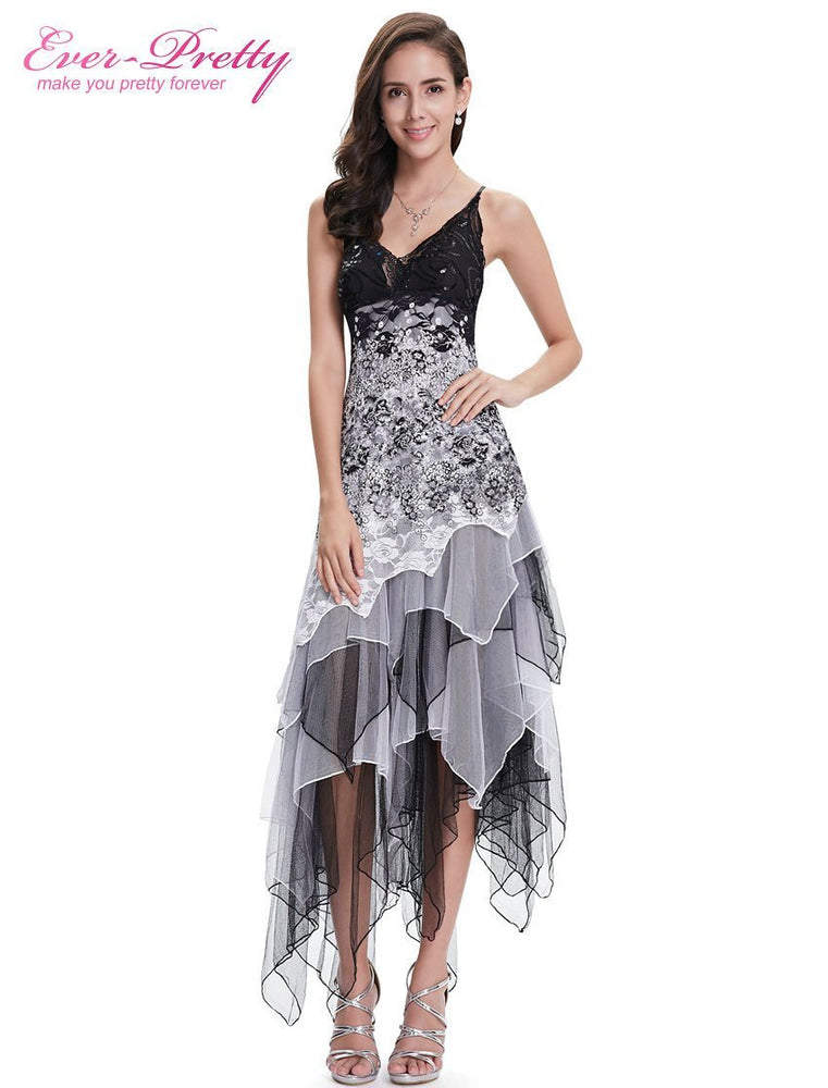 Party Dresses Ever Pretty Ep6212B Stylish Black And White Lace Long Wedding  Plus Size Cocktail Dress 19715929a
