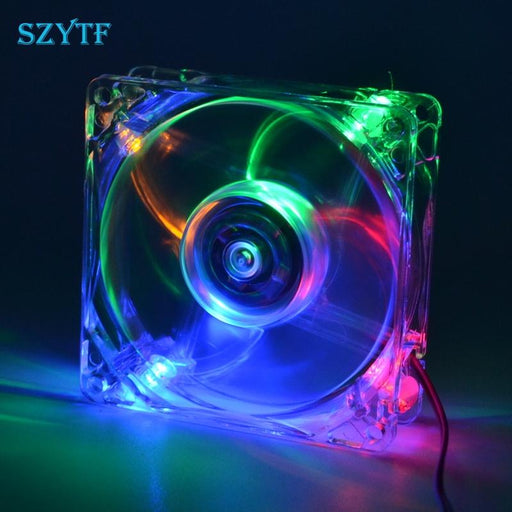 Pc Computer Fan Case Cooling Fan Unit Fan 8025 8Cm With Led Lights Chassis Fan 80*80*25-Computer Components-YX Technology-EpicWorldStore.com