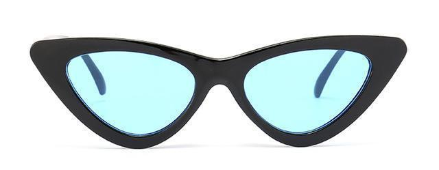 Peekaboo Cute Stylish Retro Cat Eye Sunglasses Women Small Black White Triangle Vintage Cheap-Accessories-peekaboo Official Store-clear blue-EpicWorldStore.com