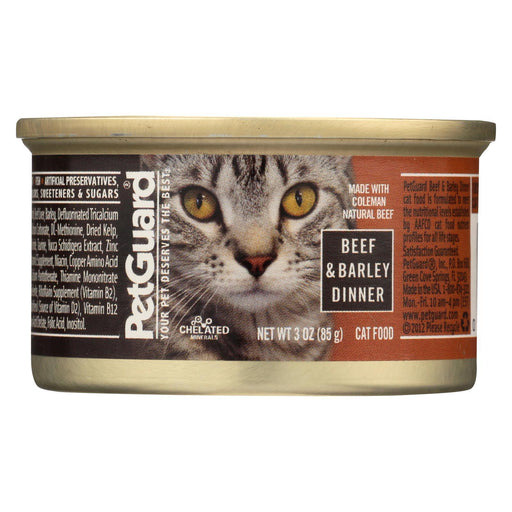 Petguard Cats Food - Beef And Barley Dinner - Case Of 24 - 3 Oz.-Eco-Friendly Home & Grocery-Petguard-EpicWorldStore.com