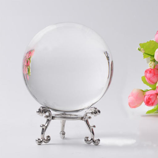 Photography Crystal Ball Ornament Fengshui Globe Divination Quartz Magic Glass Ball Home Decor-Decorative Balls-Xinyao Crystal Crafts Co. Ltd-60 MM-without base-EpicWorldStore.com