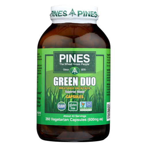 Pines International Green Duo - Organic - Capsules - 260 Veg Capsules-Eco-Friendly Home & Grocery-Pines International-EpicWorldStore.com