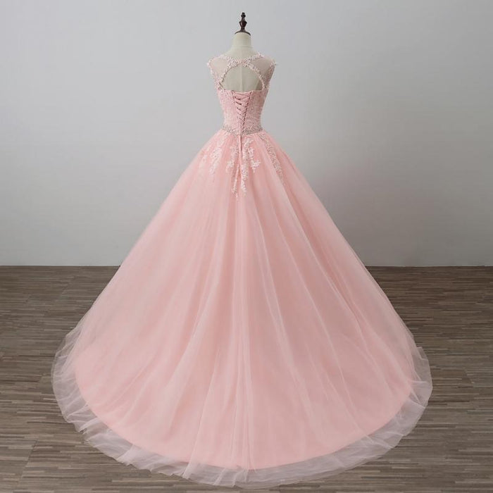 8fe93e8bfff0 Pink Ball Gown Princess Quinceanera Dresses Girls Beaded Masquerade Prom  Sweet 16 Dresses Ball Gowns-