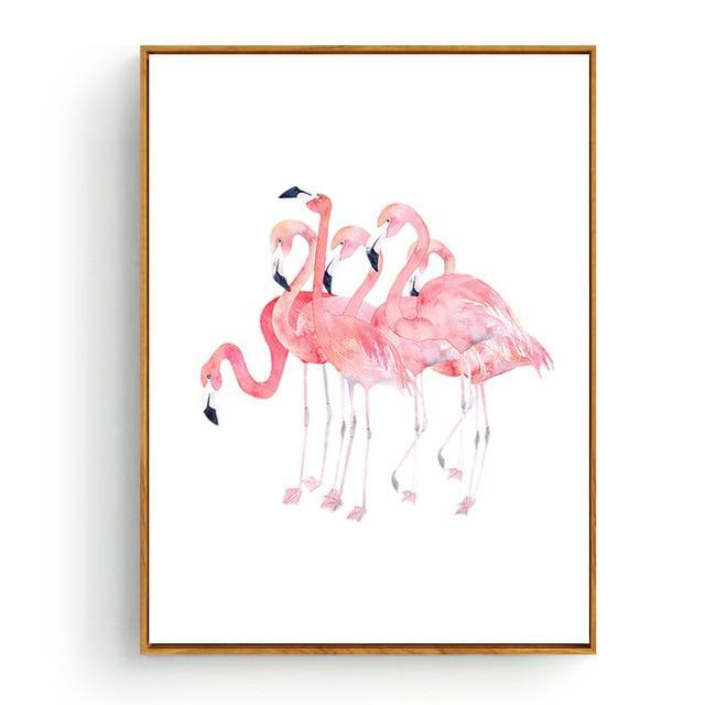 Pink Flamingos Series Love Bird Poster Wall Art Watercolor Pictures Canvas Painting Prints For-Painting & Calligraphy-Love Painting-10x15cm No Frame-Blue-EpicWorldStore.com
