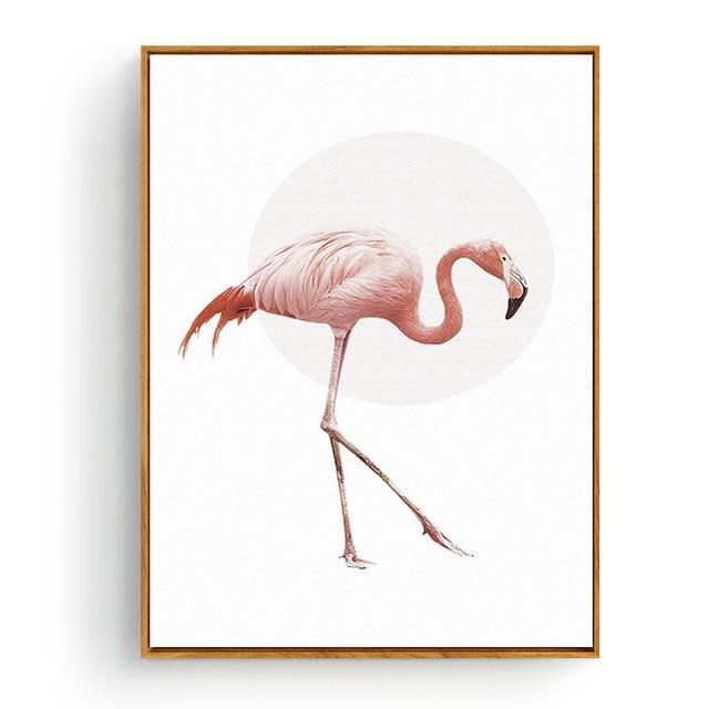 Pink Flamingos Series Love Bird Poster Wall Art Watercolor Pictures Canvas Painting Prints For-Painting & Calligraphy-Love Painting-10x15cm No Frame-Green-EpicWorldStore.com