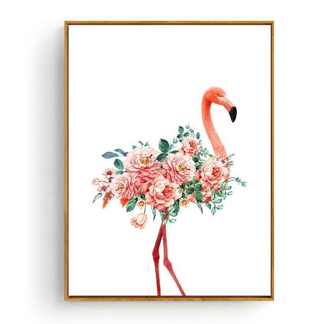 Pink Flamingos Series Love Bird Poster Wall Art Watercolor Pictures Canvas Painting Prints For-Painting & Calligraphy-Love Painting-10x15cm No Frame-Purple-EpicWorldStore.com