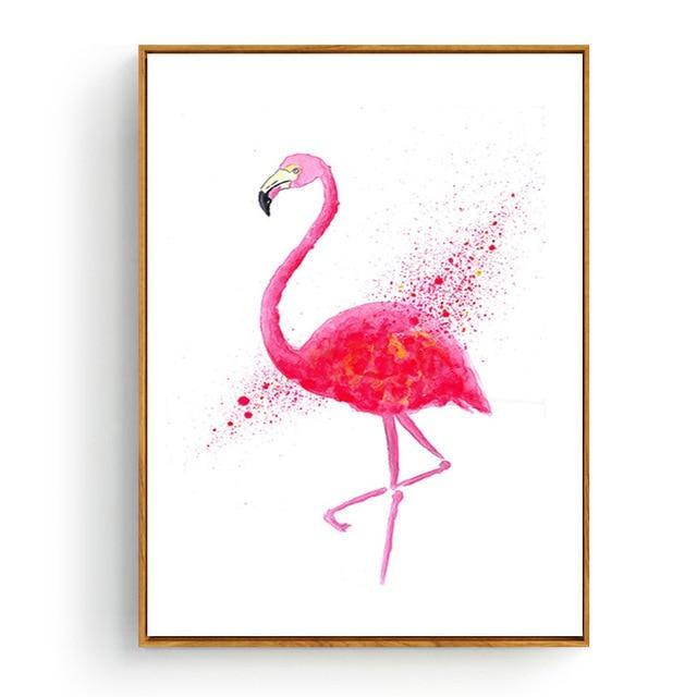 Pink Flamingos Series Love Bird Poster Wall Art Watercolor Pictures Canvas Painting Prints For-Painting & Calligraphy-Love Painting-10x15cm No Frame-YELLOW-EpicWorldStore.com