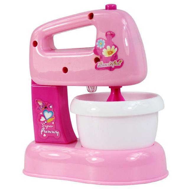 Pink Household Appliances Children Pretend Play Kitchen Toys Toaster Vacuum  Cleaner Cooker Blender