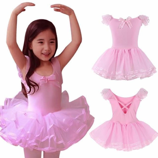 67aad71c0 Pink Yellow Ballet Tutu Dress Girls Gymnastics Leotard Dancewear ...