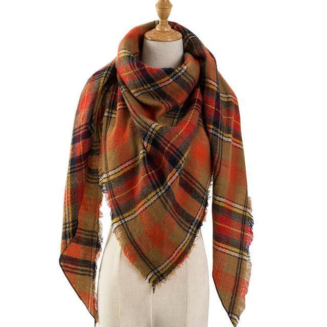Pinmi Black Plaid Winter Scarf Women Luxury Brand Warm Cashmere Scarves And Shawls Large-Accessories-PINMI Official Store-A15-EpicWorldStore.com