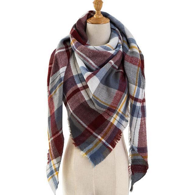 Pinmi Black Plaid Winter Scarf Women Luxury Brand Warm Cashmere Scarves And Shawls Large-Accessories-PINMI Official Store-A2-EpicWorldStore.com