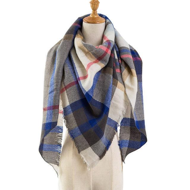 Pinmi Black Plaid Winter Scarf Women Luxury Brand Warm Cashmere Scarves And Shawls Large-Accessories-PINMI Official Store-A4-EpicWorldStore.com