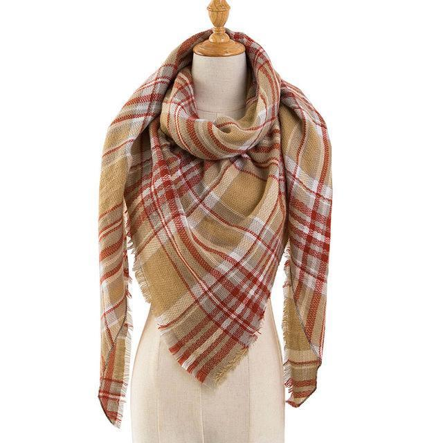 Pinmi Black Plaid Winter Scarf Women Luxury Brand Warm Cashmere Scarves And Shawls Large-Accessories-PINMI Official Store-A5-EpicWorldStore.com