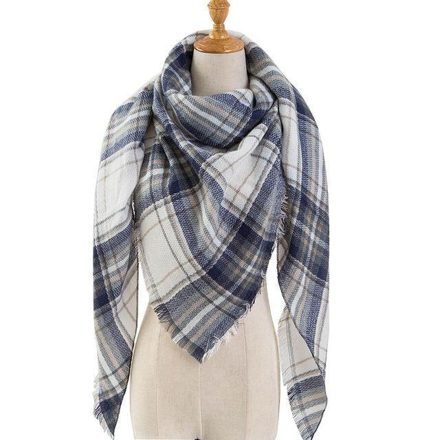 Pinmi Black Plaid Winter Scarf Women Luxury Brand Warm Cashmere Scarves And Shawls Large-Accessories-PINMI Official Store-A8-EpicWorldStore.com