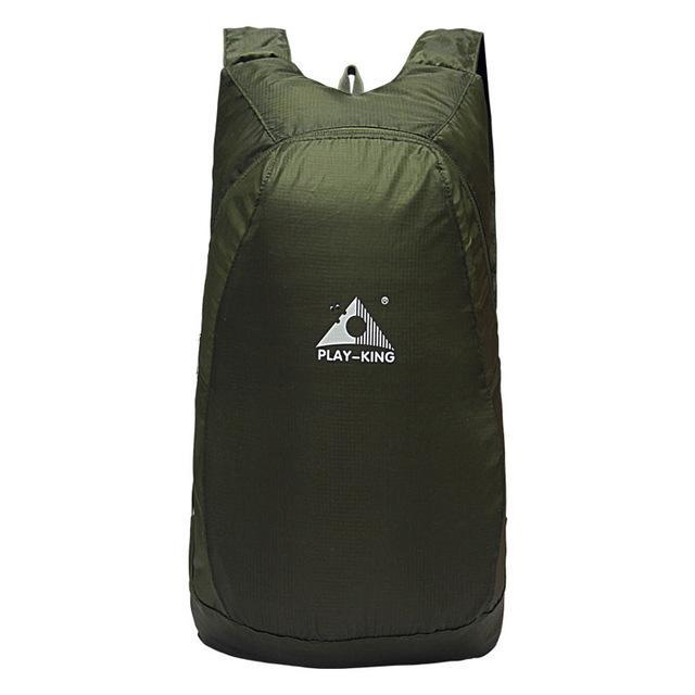Playking Lightweight Nylon Foldable Backpack Waterproof Backpack Folding Bag Ultralight Outdoor Pack-Sport Bags-Playking Outdoor Equipment Flagship Store-Army Green-EpicWorldStore.com
