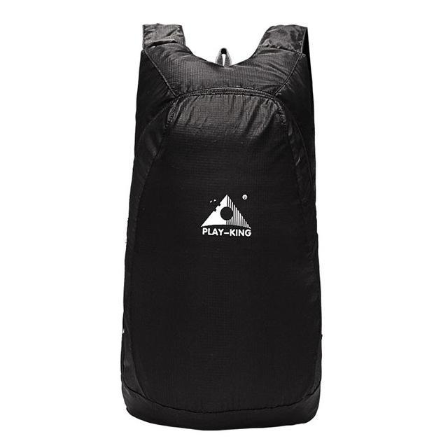 Playking Lightweight Nylon Foldable Backpack Waterproof Backpack Folding Bag Ultralight Outdoor Pack-Sport Bags-Playking Outdoor Equipment Flagship Store-Black-EpicWorldStore.com