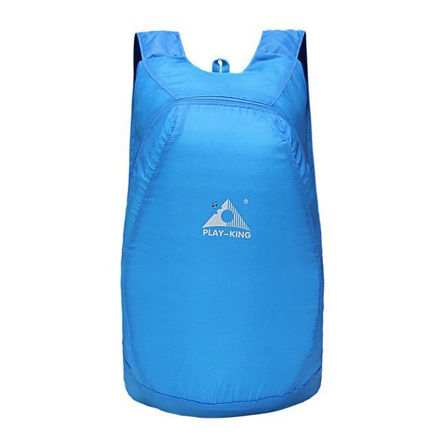 Playking Lightweight Nylon Foldable Backpack Waterproof Backpack Folding Bag Ultralight Outdoor Pack-Sport Bags-Playking Outdoor Equipment Flagship Store-Blue-EpicWorldStore.com