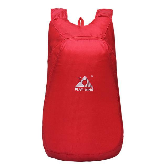 Playking Lightweight Nylon Foldable Backpack Waterproof Backpack Folding Bag Ultralight Outdoor Pack-Sport Bags-Playking Outdoor Equipment Flagship Store-Red-EpicWorldStore.com