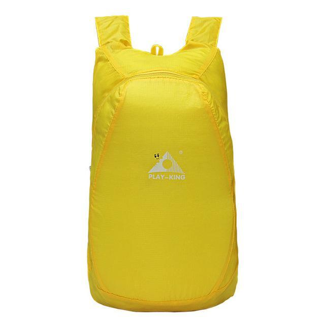 Playking Lightweight Nylon Foldable Backpack Waterproof Backpack Folding Bag Ultralight Outdoor Pack-Sport Bags-Playking Outdoor Equipment Flagship Store-Yellow-EpicWorldStore.com