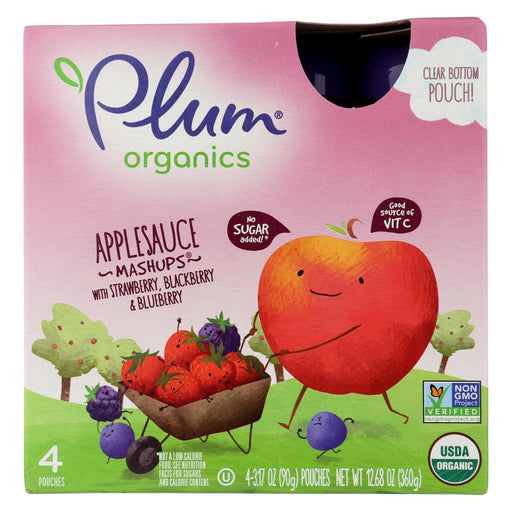 Plum Kids Mashups Squeezable Fruit - Berry - Case Of 6 - 3.17 Oz.-Eco-Friendly Home & Grocery-Plum Kids-EpicWorldStore.com