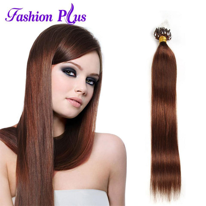 Plus Micro Loop Ring Hair Extension Blonde 613 Remy Micro Bead Hair