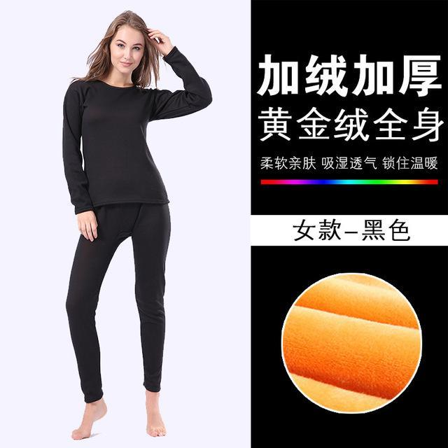 c706bac162cc3 Plus Size Winter Thermal Underwear Women Seamless Pant And Top Suit Warm  Pajamas Especially Female-