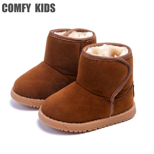 Plush Warm Baby Toddler Boots Shoes Child Snow Boots Shoes For Boys Girls Winter Snow Boots Comfy-Baby Shoes-COMFY KIDS Official Store-Black 888-5-EpicWorldStore.com