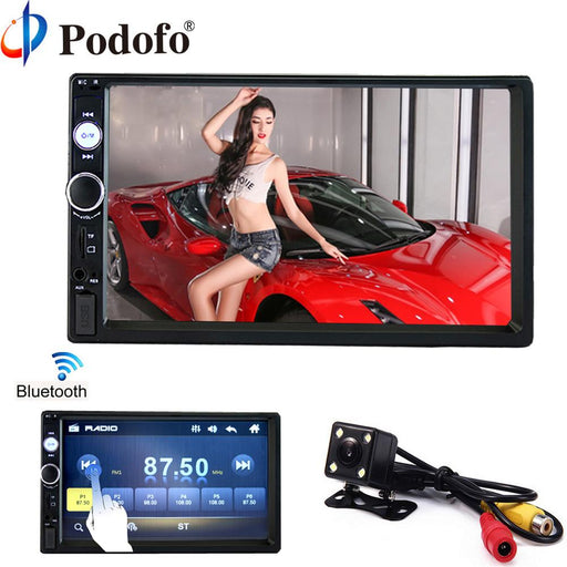 "Podofo 2 Din Car Radio 7"" Hd Player Mp5 Touch Screen Digital Display Bluetooth Multimedia Usb 2Din-Car Radios-podofo Franchised Store-2 din car radio-EpicWorldStore.com"