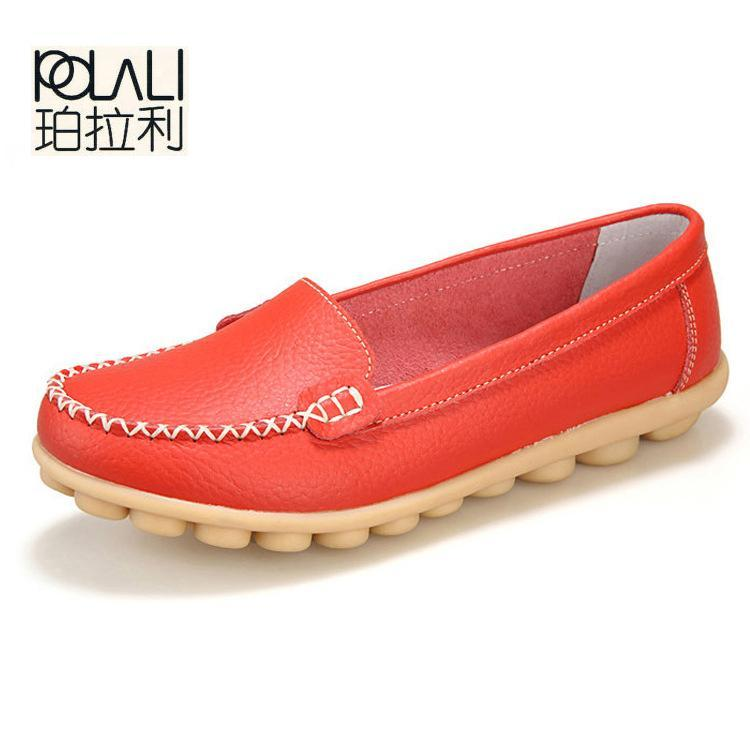 3b37db0e9a3f Polali New Artificial Leather Women Shoes Causal Soft Womans Flats Female  Moccasins Sapatilhas-Women s Flats