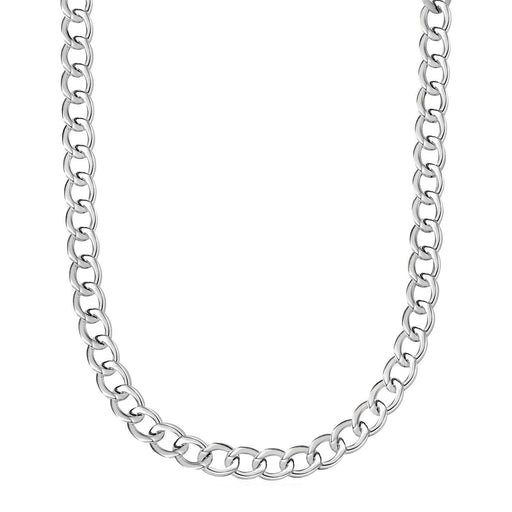 "Polished Twisted Oval Link Necklace In Sterling Silver-Jewelry-EpicWorldStore.com-18""-EpicWorldStore.com"