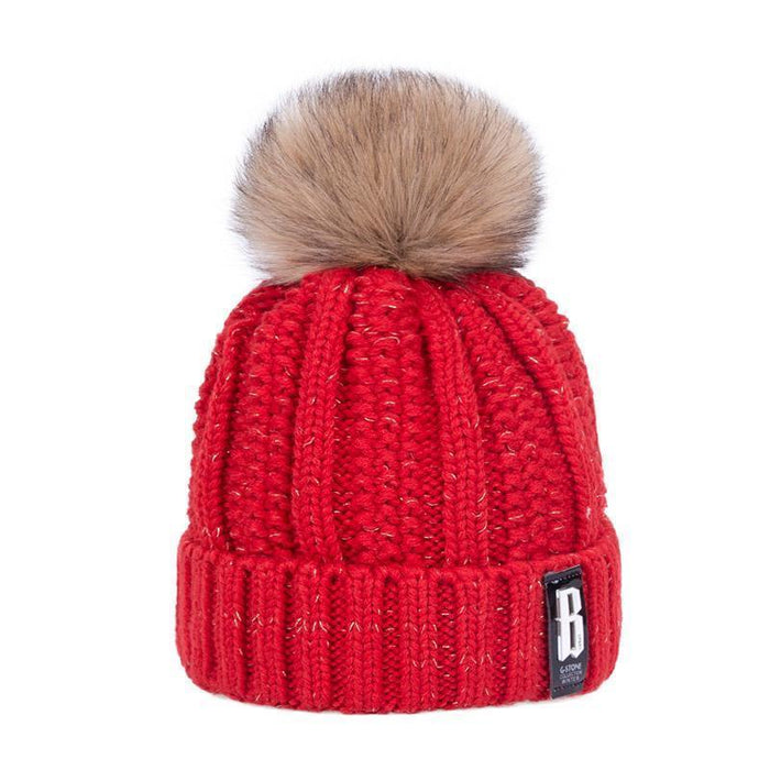 Pom Poms Winter Hat For Women Solid Warm Thick-Accessories-Evrfelan Official Store-White-EpicWorldStore.com