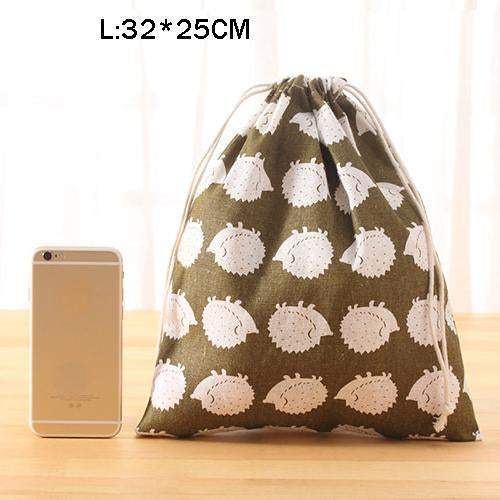 Portable Drawstring Bags Girls Shoes Bags Women Cotton Travel Pouch Storage Clothes-Functional Bags-UniStyle Bag Store-L4-EpicWorldStore.com