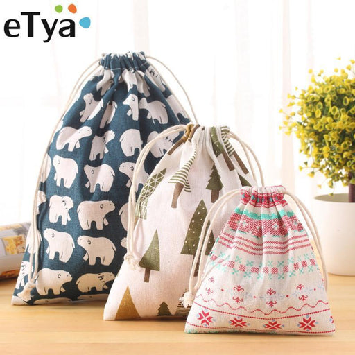 Portable Drawstring Bags Girls Shoes Bags Women Cotton Travel Pouch Storage Clothes-Functional Bags-UniStyle Bag Store-S1-EpicWorldStore.com