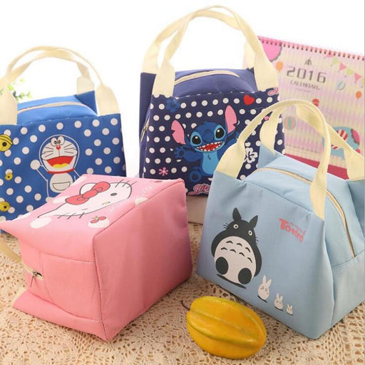 Portable Lunch Bag Cartoon Hello Kitty Insulated Cooler Bags Thermal Food Picnic Lunch Bags Women-Functional Bags-XIEEEPO Store-1-EpicWorldStore.com