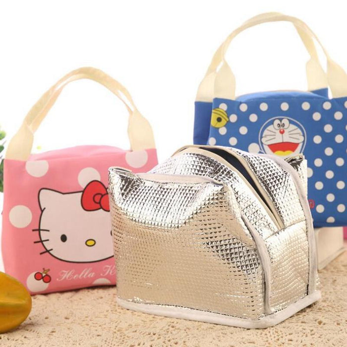 Portable Lunch Bag Cartoon Hello Kitty Insulated Cooler Bags Thermal Food  Picnic Lunch Bags Women- ec286218eb692