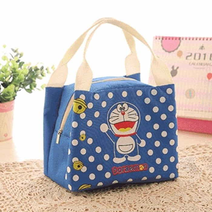 Thermal Insulated Cooler Bag Cartoon Dot Women Lunch Tote Box Storage Sport Tool
