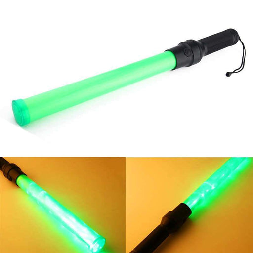 Powerful Led Flashlight Traffic Safety 3 Modes Traffic Baton Light Fluorescent Sticks By 2 X D-LED Flashlights-Warmer Life Store-WHITE-Green-EpicWorldStore.com