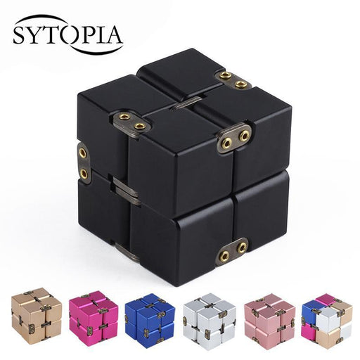 Premium Metal Infinity Cube Fidget Toy Aluminium Deformation Magical Infinite Cube Fidget Toys-Novelty & Gag Toys-Spencer Funny Gifts Store-Multicolor-EpicWorldStore.com
