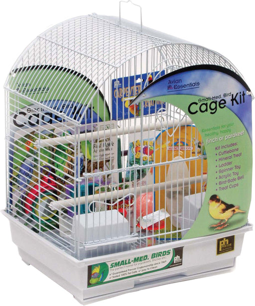 Prevue Pet Products Inc - Round Roof Small Bird Cage Kit-Pet-Prevue Pet Products Inc-WHITE-SMALL-EpicWorldStore.com